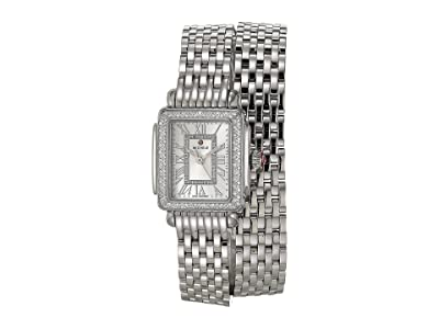 Michele Deco Madison Mini Double Wrap Bracelet (Silver) Watches
