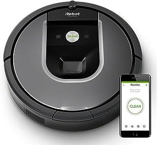 iRobot Roomba 960 - Robot Aspirador Óptimo Mascotas, Succión 5 Veces Superior, Cepillos de
