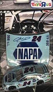 2017 Limited Toys R US Edition NASCAR Authentics Chase Elliott #24 NAPA Darlington Throwback Paint Scheme 1/64 Scale with Bonus Collectors Plastic Hood