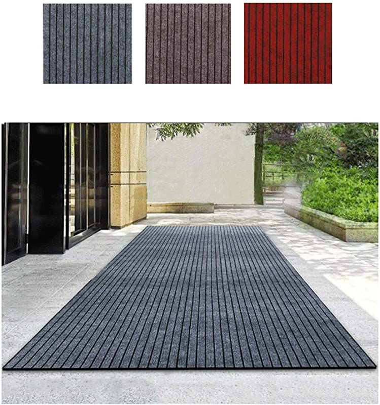 DD DD Carpet Runner Pad Non Slip Rugs For Entryway Blended Material Rubber Bottom Fondo In Gomma For Commercial Lobby Office Gray Brown Red 1m3m5m10m Color Coffee Brown Size 0 9x1m
