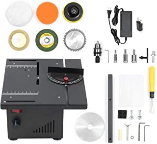 KKmoon 110–240 V 200 W bordscirkelsåg med hastighet och vinkeljustering 40 mm skärdjup för skärning av träplastblandning (...