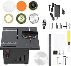 Fesjoy 110-240V 200W Sierra de Mesa Multifuncional Mini cortadora de Sierra eléctrica de Escritorio con Ajuste de Velocidad y ángulo 40 mm de Profundidad de Corte Función de Cuchilla elevable para