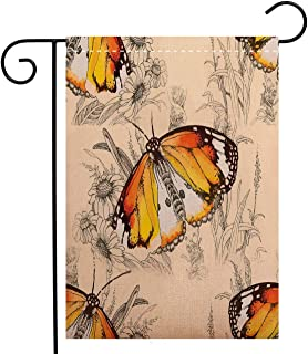 Creative Home Garden Flag Butterflies Decorations Sign of Supreme Grace and Meditative Journey Real Self Creature Garden Flag Waterproof for Party Holiday Home Garden Decor, Polyester 28 x 40 inch