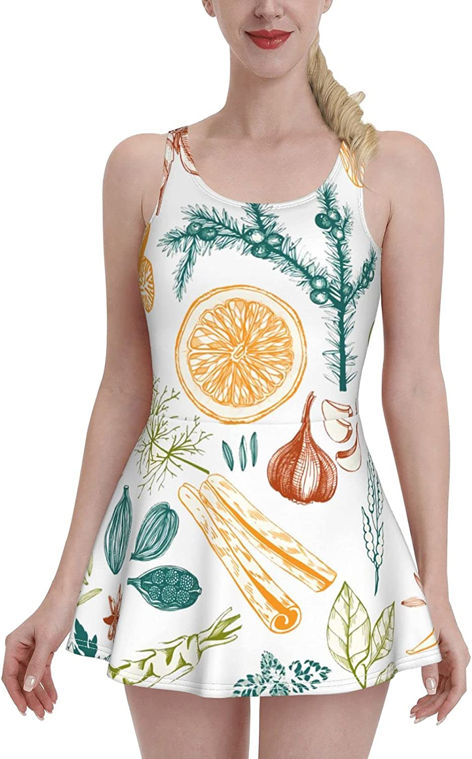 It is very popular Rich Quantity limited Variety of Fruits Ladies Ruffled Swimsuit Ad One-Piece with
