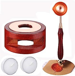 Sealing Wax Warmer, Wax Seal Kit with Candle Furnace Melting Wax Spoon Tealight Candles