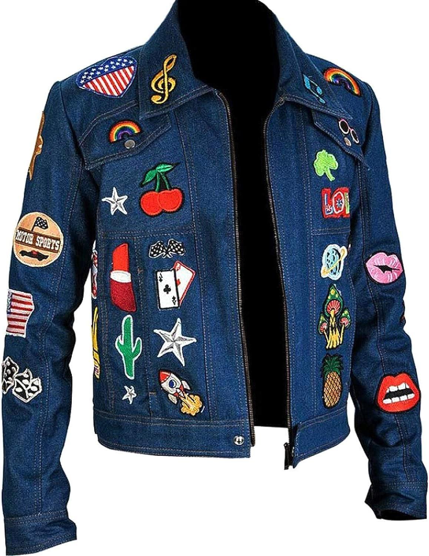 Prime-Fashion Women's Casual Blue Denim Jacket