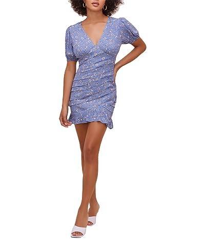 ASTR the Label Amaris Dress (Blue/Ivory Floral) Women