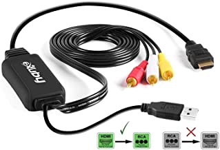 HDMI to RCA Converter Cable - Convert Digital HDMI Signal to Analog AV - Compatible with PS4/XBOX One/Nintendo Switch/PC/B...