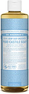 Dr. Bronner's - Pure-Castile Liquid Soap(Baby Unscented, 16 Ounce)- Made with Organic Oils, 18-in-1 Uses: Face, Hair, Laun...