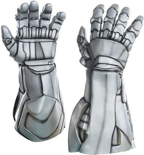 aquí tiene la última Avengers Marvel 2 Ultron Deluxe Latex Costume Costume Costume Hands Adult One Talla  salida