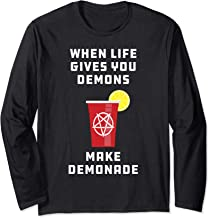 Goth Satan Devil Baphomet Demon Pentagram Metal Gift Long Sleeve T-Shirt