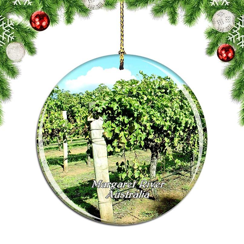 ブレーキベアリングルーWeekinoオーストラリアマーガレットリバーアンドワインツアークリスマスデコレーションオーナメントクリスマスツリーペンダントデコレーションシティトラベルお土産コレクション磁器2.85インチ