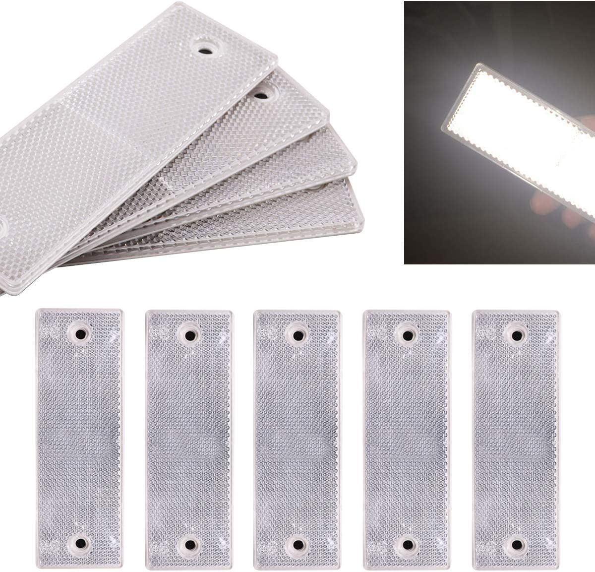 smseace 15pcs White Reflector Materi Chicago Mall Plastics Factory outlet Waterproof Sticker