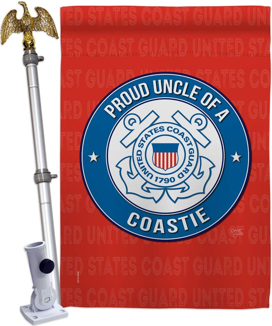 Breeze Baltimore Mall Decor Proud Uncle Coastie House Flag Set Popular brand in the world Armed Eagle Forc