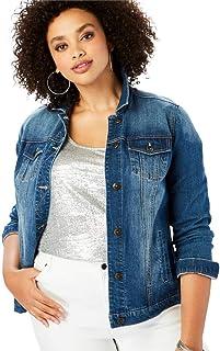 f18e81030d481 Roamans Women s Plus Size Essential Denim Jacket