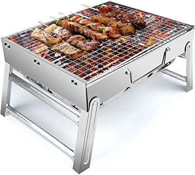 UTTORA BBQ Grill Bundled with Premium Front and Rear Bike Light