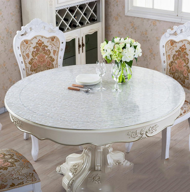 Unbekannt Küchenwäsche Dickes PVC runde Rosa scheuern Tischdecke, weiche Glas Tischmatten Wasserdichte Kristallplatte Couchtisch Tuch Tischdecke 1.5mm (Farbe   Rosa Scrub-1.5mm, größe   Round-100cm) B077XCN7P7 Angemessener Preis  | Au