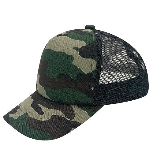 e866241598a E-forest hair Plain Kids Baseball Cap Youth Mesh Trucker Blank Cap  Adjustable Snapback