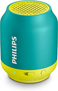 Philips BT25A Bluetooth Wireless Speaker Portable 3.5mm Audio for iPhone/Android