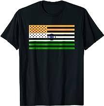 Indian American Flag T-Shirt America India USA Pride Tee