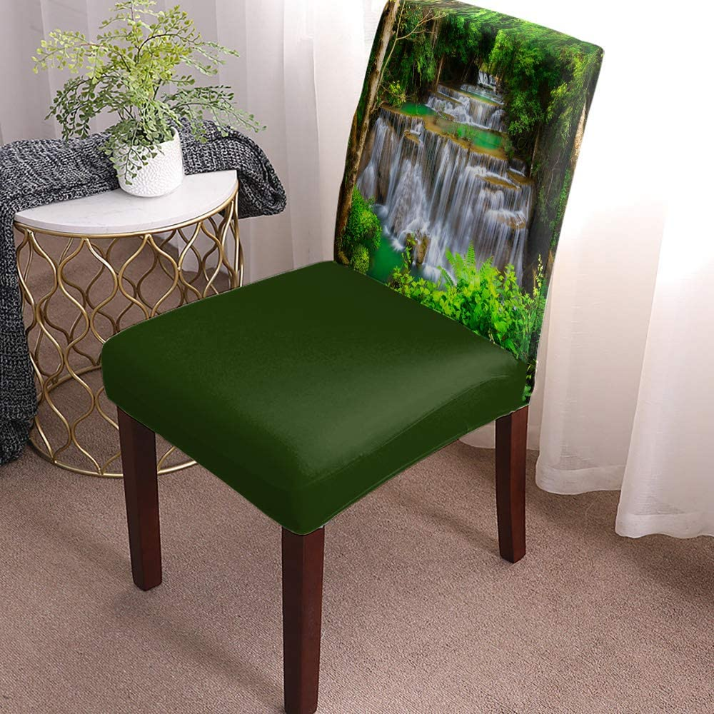 Popular brand Dining Chair Covers Slipcovers Set Dense of Secluded Genuine 6 Tropical