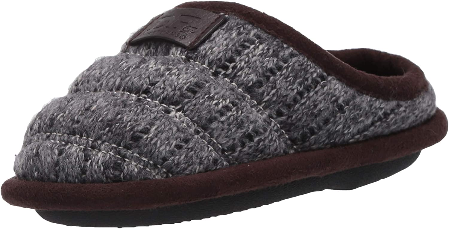 Dearfoams unisex-baby Df By Toddlers Kids Knit Luxury goods Quilted Brand new