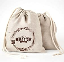 (30 x 40 cm) Linen Bread Bags - 2-Pack, Ideal for Homemade Bread, Unbleached, Reusable Food Storage, Housewarming, Wedding...