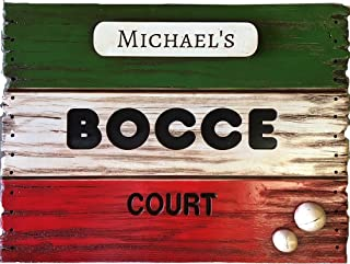 Large Bocce Score Board Sign Personalized with your name