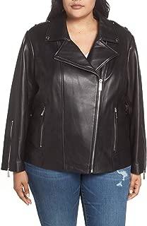 Petite & Plus Size Classic Moto Leather Jacket