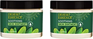 Desert Essence Tea Tree Oil Skin Ointment - 1 Fl Ounce - Pack of 2 - Jojoba & Lavender Essential Oils - Vit...