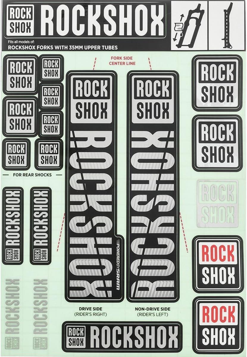 RockShox LYRIK 2017 2018 Style Stickers Decals 3 Colour Designer Pack