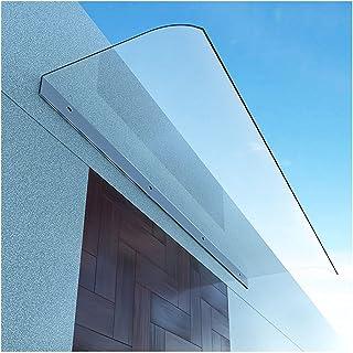 テラス 屋根 ひさし 庇 透明な 雨よけ,日よけ, ブラケット不要, 拡張可能, DIYに最適 壁側80/100/120cm 奥行40cm (Color : Clear, Size : 40x80cm/15.7x31.5inch)