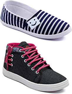 ASIAN Multicolor Walking Shoes,Running Shoes,Casual Shoes,Canvas Shoes,Sneakers,Loafers Combo Pack of 2 for Women