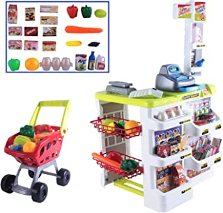 deAO Kids Role Play Supermarket Set Superstore Shop Toys Children Supermarket by deAO
