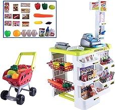 deAO Supermercado Puesto de Mercado con Carrito de la Compra