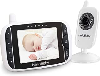 Baby Monitor, HelloBaby Video Baby Monitor with Camera and Audio, 3.2'' LCD Display Screen, Automatic Night Vision Camera,...