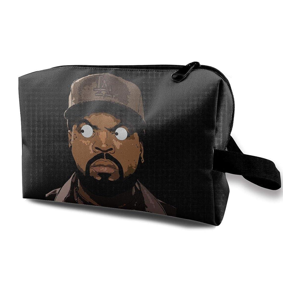 想像する野球管理者アイス?キューブ Ice Cube コスメバッグ 収納箱 洗面用具バッグ 化粧品収納 化粧道具入れ ジッパー付き 大容量 多機能 持ち運び便利 自宅 出張 男女兼用