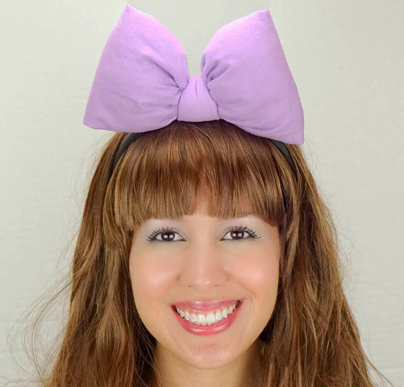 Light Purple Daisy Duck Bow Headband Minnie Mouse Inspired Handmade Hair Accessory by Sweet in the City mfq5830684
