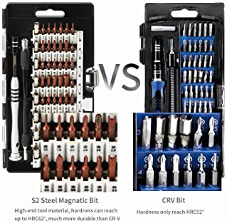 Kaisi 70 in 1 Precision Screwdriver Set Professional Electronics Repair Tool Kit with 56 Bits Magnetic Driver Kit, An...