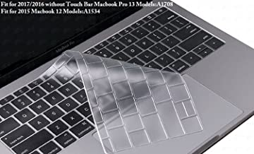 DHZ Ultra Thin Transparent Keyboard Cover Skin for 2017/2016 Released Without Touch Bar MacBook Pro 13