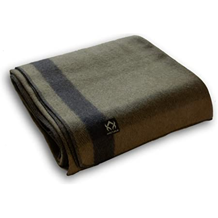 Arcturus Patterned Wool Blankets - 4+ Pounds Warm, Heavy, Washable, Large   Great for Camping, Outdoors, Sporting Events, or Survival & Emergency Kits