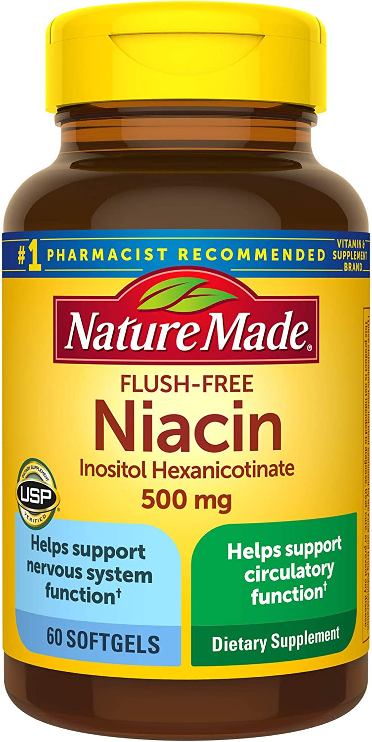 Nature Made Niacin Mail order 500mg Flush-Free 60 Count Su Helps List price Softgels
