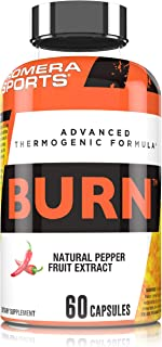 ProMera Sports Burn, Natural PurCaf Caffeine and Capsimax to Support Weight Loss & Increase Energy without Jitters or Cras...