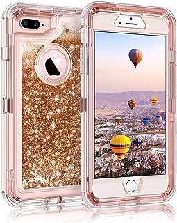 ハイブリッド3Dキラキラアーマーケースfor iPhone 11 Pro XM Max 6S 7 Plus,For iPhone 8 Plus,Gold