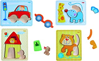 HABA Puzzles Set Preschool Educational Learning Toys Set for Boys and Girls | Cognitive Development - Multicolor