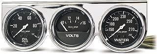 AUTO METER 2399 Oil Water Volt Gauge Panel