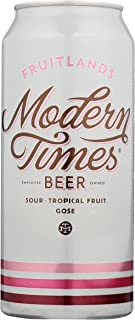 Modern Times Fruitlands Gose Sour with Passionfruit & Guava, 473 ml (Pack of 4)