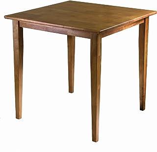 Winsome Groveland Table de salle à manger carrée avec pieds en chêne clair