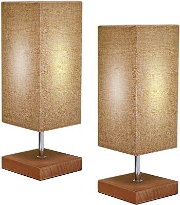 Amazon.com: Lámpara de mesa, puerto de carga USB, lámpara de ...
