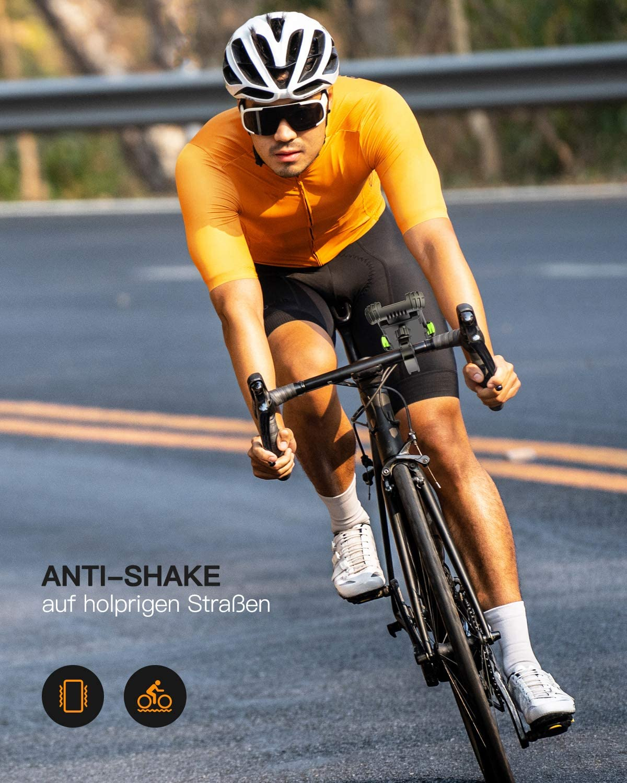 H/üllenfreundlich Handy Halterung Fahrradlenker Universal 360 Drehung Fahrradhalterung f/ür 4,7 bis 7 Zoll Smartphone Grau FLOVEME Motorrad Handyhalterung Fahrrad Handyhalter